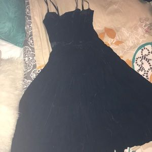 Velvet Vintage gorgeous black evening dress